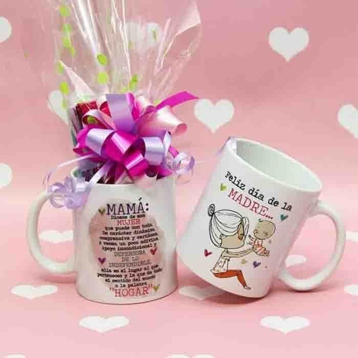 Mugs decorados con dulces