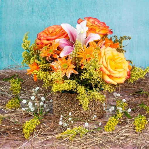 Ramo de Flores base Piedra Agregalo a tu Desayuno en Bogota