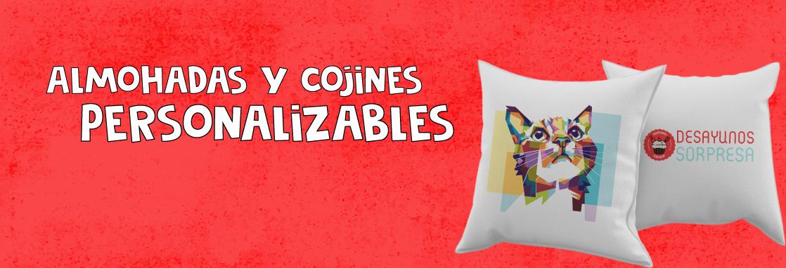 almohadas y cojines personalizables